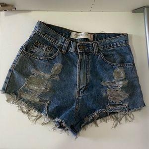 Vintage Levis denim shorts - high waisted